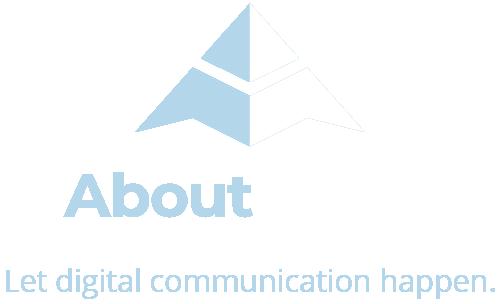 AboutMedia Logo invertiert