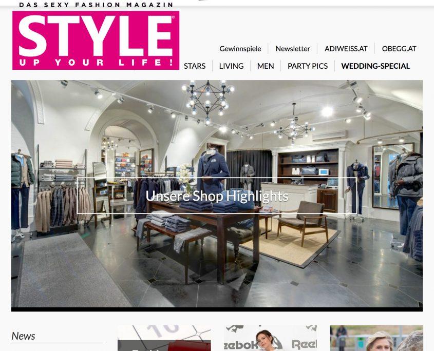 Screenshot StyleUpYourLife Webseite