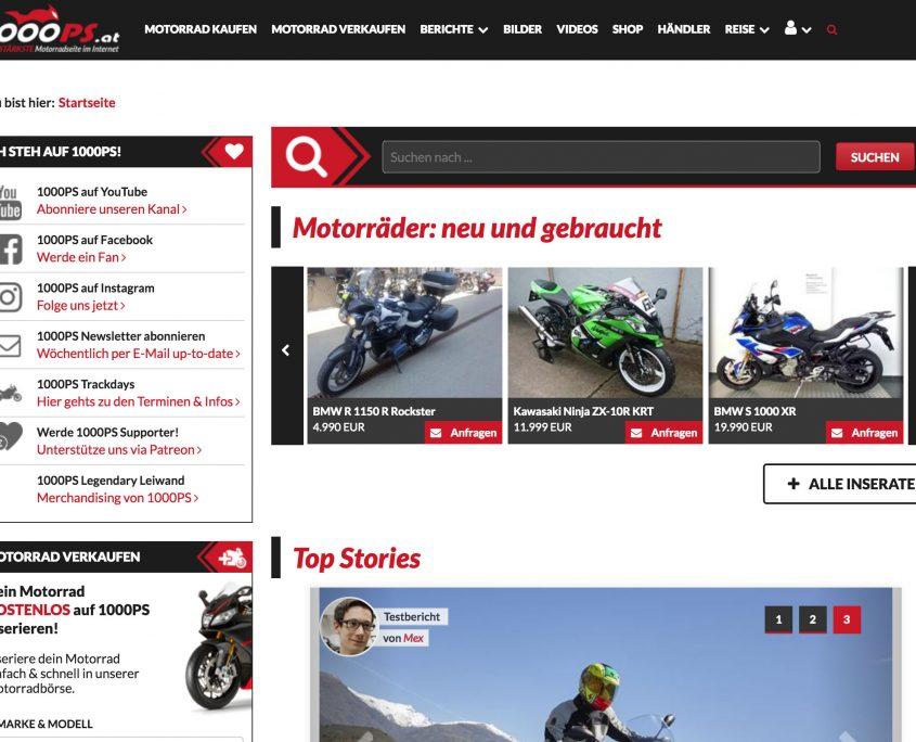 screenshot 1000PS Website