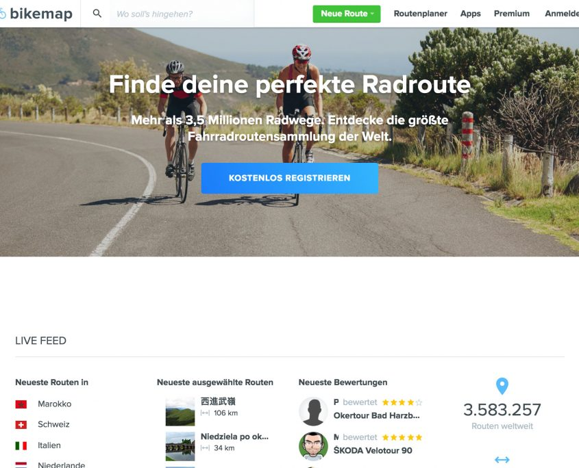Bikemap Website