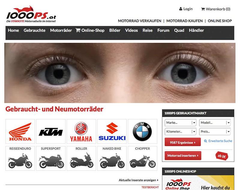 Screenshot 1000PS Webseite