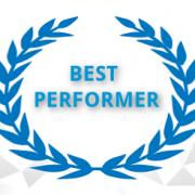 Best Performer mit Lorbeerkranz