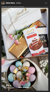 Instagram Story mit Schokolade