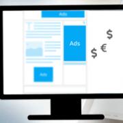 Digitale Werbeanzeige, Google Logo, Facebook Logo