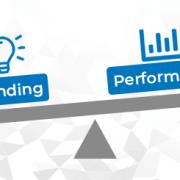 Grafik Waage Branding mit Performance
