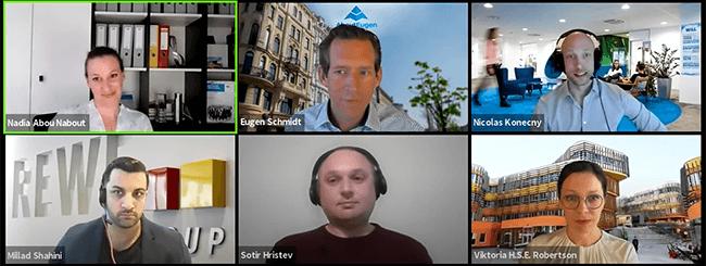 Screenshot der virtuellen Podiumsdiskussion