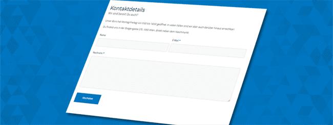 Kontaktformular AboutMedia